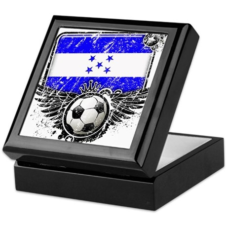 Soccer Fan Honduras Keepsake Box