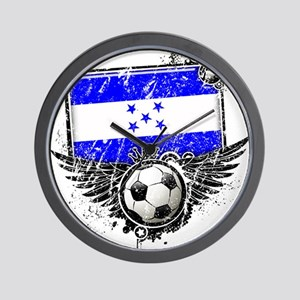 Soccer Fan Greece Wall Clock