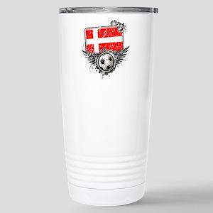 Soccer Fan Denmark Stainless Steel Travel Mug