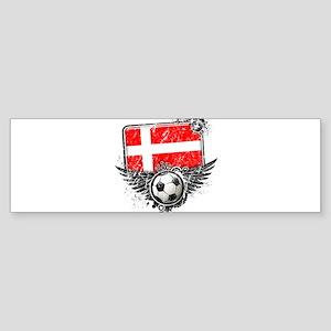 Soccer Fan Denmark Sticker (Bumper)