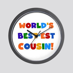 World's Best-Est Cousin Wall Clock