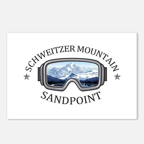 Schweitzer Mountain - S Postcards (Package of 8)