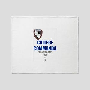 College Commando Throw Blanket