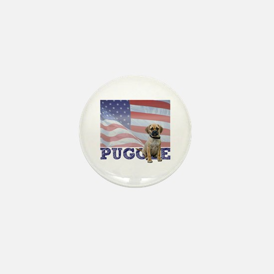 Patriotic Puggle Mini Button
