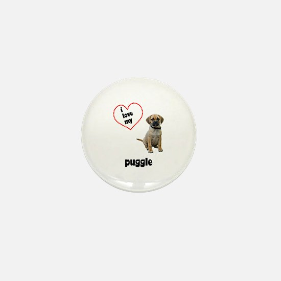 Puggle Lover Mini Button