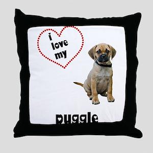 Puggle Lover Throw Pillow