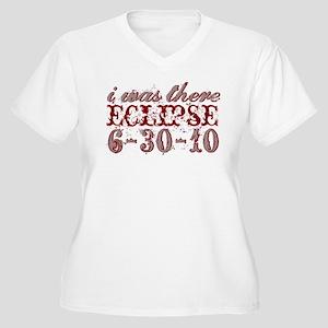 I Was There 6-30-10 Eclipse Women's Plus Size V-Ne