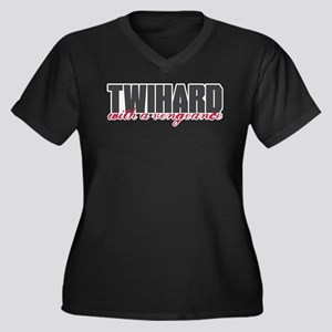 Twihard with a Vengeance Women's Plus Size V-Neck