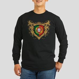 Portugal Crest Long Sleeve Dark T-Shirt