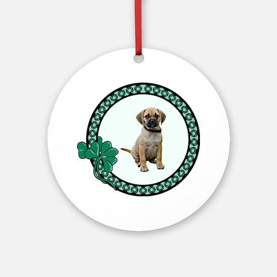 Irish Puggle Ornament (Round)