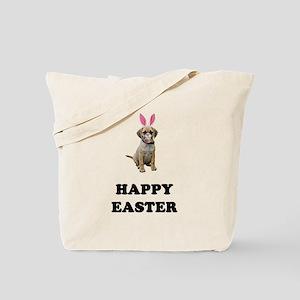 Easter Bunny Puggle Tote Bag