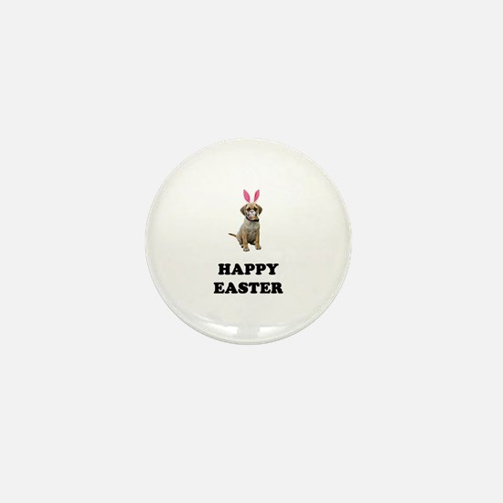 Easter Bunny Puggle Mini Button