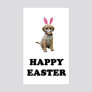 Easter Bunny Puggle Sticker (Rectangle)