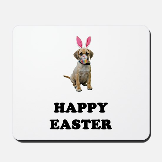 Easter Bunny Puggle Mousepad
