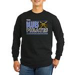 Blues Pirates Long Sleeve Dark T-Shirt