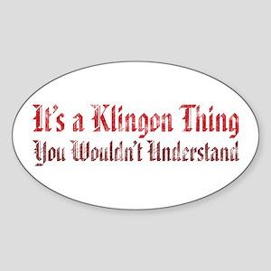 STAR TREK Klingon Thing Sticker (Oval)