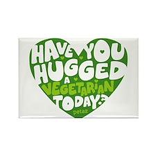 Hug A Vegetarian Rectangle Magnet Magnets