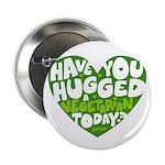 """Hug A Vegetarian 2.25"""" Button"""