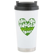 Hug a Vegetarian Stainless Steel Travel Mug