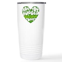Hug A Vegetarian Stainless Steel Travel Mug Mugs