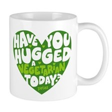 Hug A Vegetarian Mug Mugs