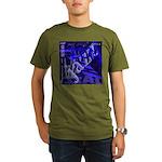 Jazz Black and Blue Organic Men's T-Shirt (dark)