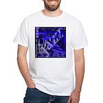 Jazz Black and Blue White T-Shirt