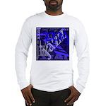 Jazz Black and Blue Long Sleeve T-Shirt