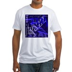Jazz Black and Blue Fitted T-Shirt