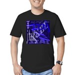 Jazz Black and Blue Men's Fitted T-Shirt (dark)