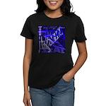 Jazz Black and Blue Women's Dark T-Shirt