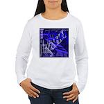Jazz Black and Blue Women's Long Sleeve T-Shirt
