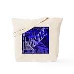 Jazz Black and Blue Tote Bag