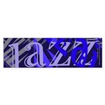 Jazz Black and Blue Sticker (Bumper 50 pk)