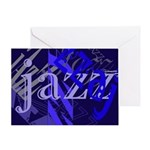 Jazz Black and Blue Greeting Card