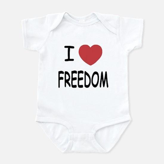 I heart freedom Infant Bodysuit