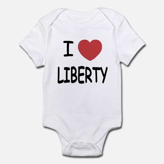 I heart liberty Infant Bodysuit