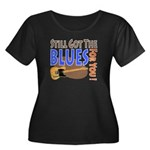 Blues for You Women's Plus Size Scoop Neck Dark T-