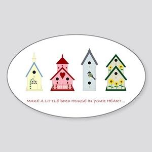 Bird Houses Sticker (Oval)