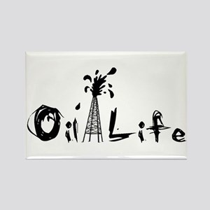 Oil Life Rectangle Magnet