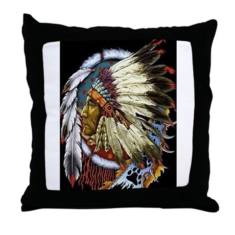 INDIAN CHIEF WHITE CLOUD Throw Pillow