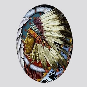 INDIAN CHIEF WHITE CLOUD Ornament (Oval)
