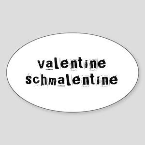 Valentine Schmalentine Oval Sticker
