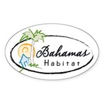 Bahamas Habitat Sticker (Oval)