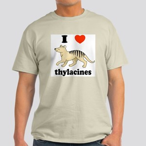I Love Thylacines Light T-Shirt