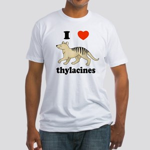I Love Thylacines Fitted T-Shirt