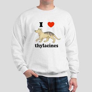 I Love Thylacines Sweatshirt