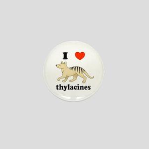 I Love Thylacines Mini Button