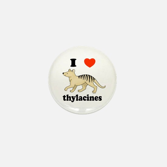 I Love Thylacines Mini Button