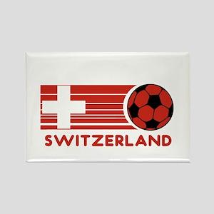 Switzerland Soccer Rectangle Magnet